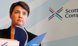 Scottish Conservative leader Ruth Davidson during the publication of the Conservative devolution commission report at the Clydeport Building in Glasgow.