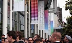 Developers queue for Apple's WWDC event at the Moscone Centre in San Francisco