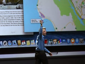 Craig Federighi speaks about the new OS X Yosemite