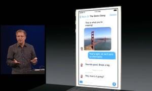 WWDC IOS 8 photo messaging presentation