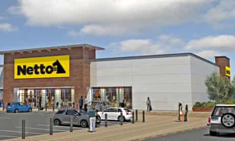 Artist's impression of Netto store (in partnership with Sainsbury's)
