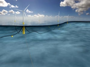 Hywind floating wind turbine prototype in Scotland