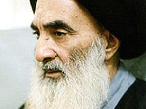 Grand Ayatollah Ali al-Sistani.