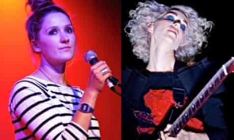 Cate Le Bon (left) and Annie Vincent AKA St Vincent