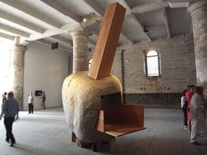 Smiljan Radic: Smiljan Radic boulder at Venice Biennale 2010