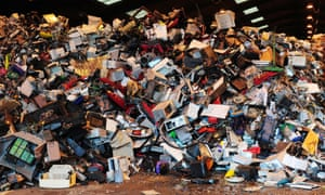 Electrical goods being legally recycled. Joe Benson illegally exporting 46 tonnes of hazardous waste to Nigeria, Ghana, the Ivory Coast and the Congo