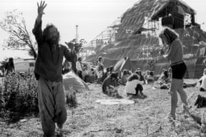 Revellers at the second Glastonbury Festival in 1971.
