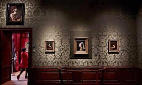 Vermeer's Girl with a Pearl Earring on display at the revamped Mauritshuis in The Hague,