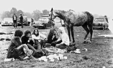 The first Glastonbury festival, in 1970