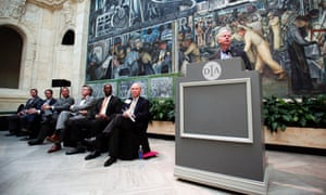 Michigan governor Rick Snyder at the Detroit Institute of Arts