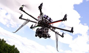 Desert Wolf's Skunk Riot Control Copter pepper-spray drone.
