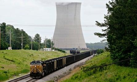 All change: a coal train serves White Bluff power plant near Redfield, Arkanas.