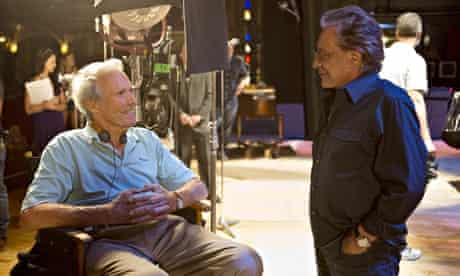 Clint Eastwood, 84, with the singer Frankie Valli on the set of Jersey Boys.