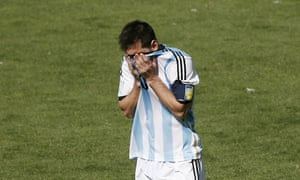 A disappointing half for Messi and Argentina.