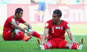 Its tough to take for the Iranians who gave as good as they got in the second half.