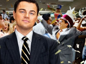 leonardo dicaprio wolf of wall street poster
