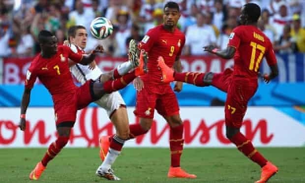 Germany v Ghana. First-half action.