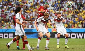 Andre Ayew leaps to meet Harrison Afful's fabulous cross and powers a header past Manuel Neuer to equalise for Ghana.