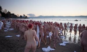 Naked swim at Dark Mofo