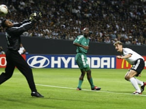 eb2d4dccb56 Klose seals his hat-trick against Saudi Arabia in 2002.