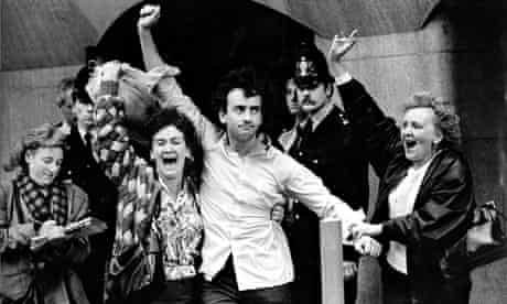 Gerry Conlon after his conviction was quashed in 1989.