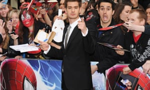 LONDON, ENGLAND - APRIL 10:  Andrew Garfield attends the world premiere of 'The Amazing Spider-Man 2' at The Odeon Leicester Square on April 10, 2014 in London, England.  (Photo by Dave J Hogan/Getty Images) Celebrities Film
