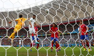 Rafik Halliche of Algeria scores his team's second goal.