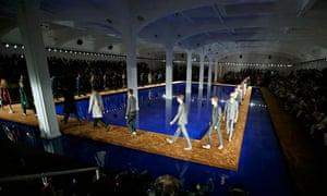 Prada's spring-summer 2015 menswear collection, part of the Milan Fashion Week, 22 June 2014.
