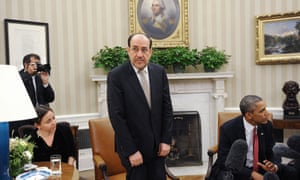 Iraqi Prime Minister Nouri Al-Maliki during a meeting with US President Barack Obama at the White House in November 2013.
