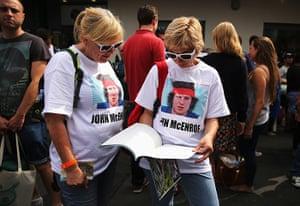 wimbo day 1: Fans of former champion John McEnroe