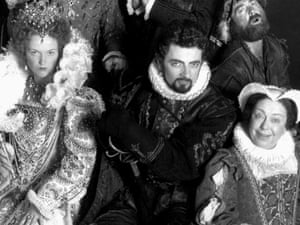 Miranda Richardson (left), Rowan Atkinson and Patsy Byrne as Queen Elizabeth I, Lord Edmund Blackadder and Nursie. Photograph: Allstar/BBC/Sportsphoto Ltd.