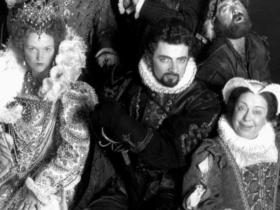 Miranda Richardson (left), Rowan Atkinson and Patsy Byrne as Queen Elizabeth I, Lord Edmund Blackadder and Nursie. Photograph: Allstar/BBC/Sportsphoto Ltd.