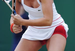 Tatiana Golovin of France sports red knickers, 2007 – there'll be none of this sort of thing this year, with only 1cm of coloured trim permitted on both outer and undergarments