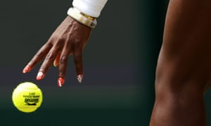 Serena Williams, 2013 – this year, nails and hair are the only areas left unlegislated by the stricter Wimbledon dress code