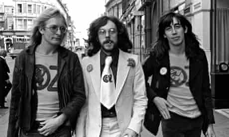 Felix Dennis, centre, with Jim Anderson, left, and Richard Neville in 1971.