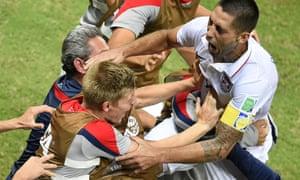 Clint Dempsey celebrates his goal against Portugal.