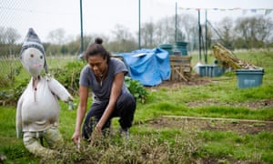 Carlene Thomas-Bailey tends to a herb patch at Oxgrow edible community garden in Oxford on Sunday, March 30, 2014. Photograph by Frantzesco Kangaris Commissioned for DO SOMETHING
