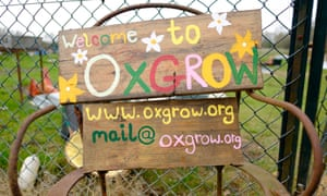 The entrance to Oxgrow edible community garden in Oxford. Photograph by Frantzesco Kangaris Commissioned for The Guardian