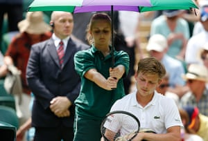 wimbledon day one: David Goffin is sheltered