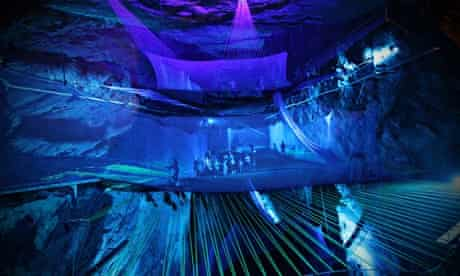 Bounce Below,  an underground trampoline experience  within the Llechwedd Caverns in  Blaenau Ffesti