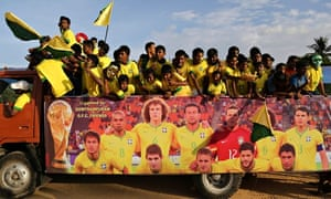 Indian supporters of Brazil