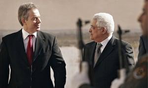 Tony Blair and Mahmood Abbas