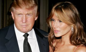 Donald Trump and his wife Melania in 2005