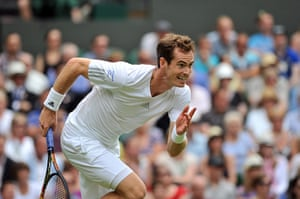 wimbledon first day: Britain's Andy Murray runs for the ball