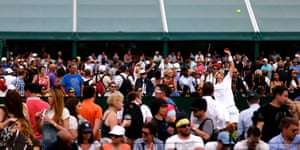 wimbledon first day: Spectators watch matches on the outer courts
