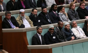 Speaker Bronwyn Bishop acknowledges the presence in the chamber of the Imams during question time.