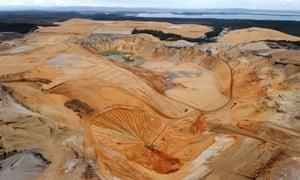Enterprise Sand Mine on North Stradbroke Island