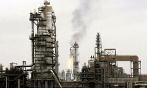 Iraq's main oil refinery at Baiji photographed in December 2009.