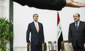 Kerry insisted his meeting with Maliki went well, but the body language suggested otherwise.