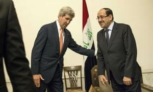 Kerry and Maliki's awkward meeting in Baghdad